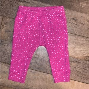 Pink leggings with cat face back